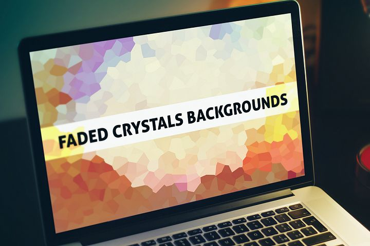70 Faded Crystals Backgrounds
