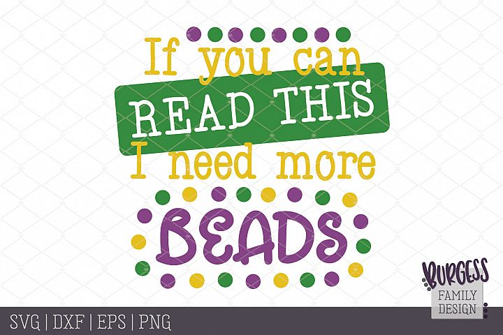 If you can read this I need more beads   SVG DXF EPS PNG