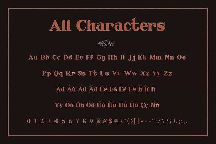 Millenia - Serif Font - Free Font of The Week Design 6
