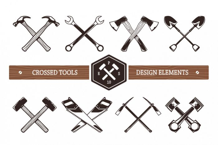 Crossed Work Tools example 1