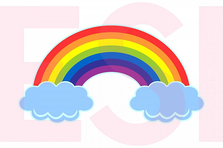 Rainbow in the Clouds Design