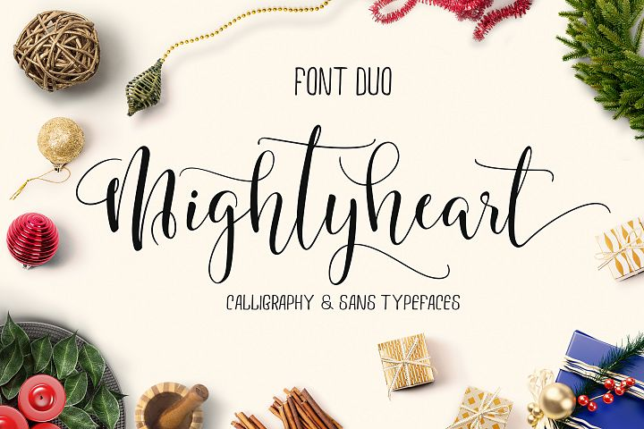 mighty heart - font duo