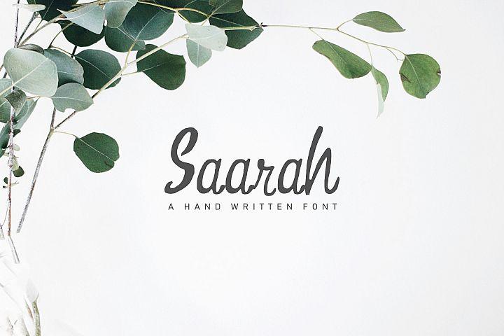 Saarah Fresh Handmade Font
