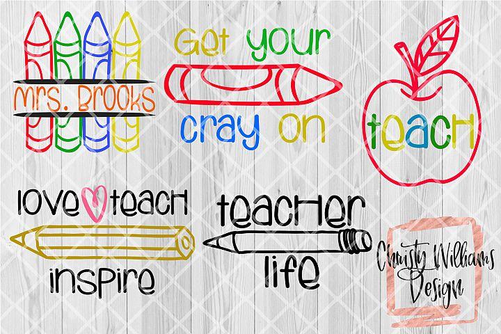 Teacher SVG Bundle 5 Designs