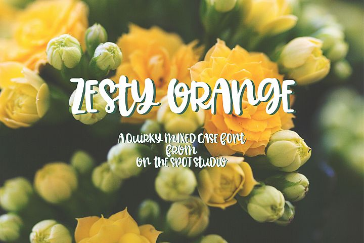 Zesty Orange - Free Font of The Week