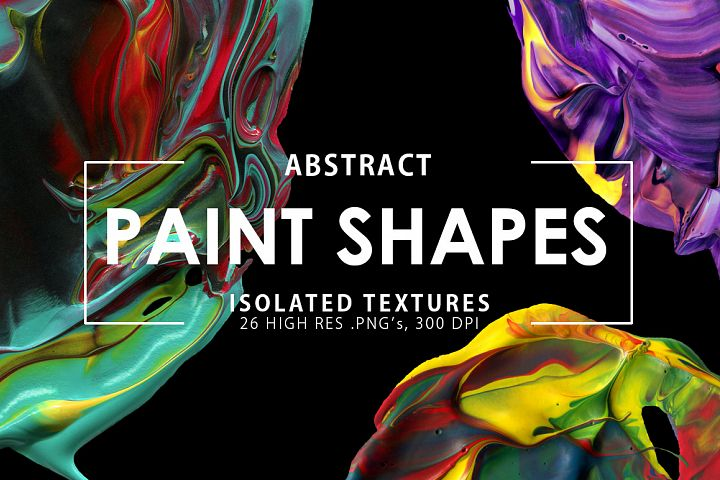 Abstract Paint Shapes