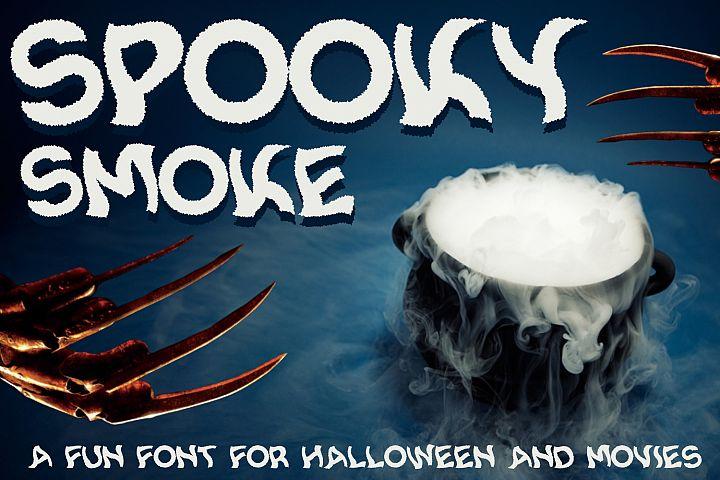 Spooky Smoke - Halloween & Twisted Font