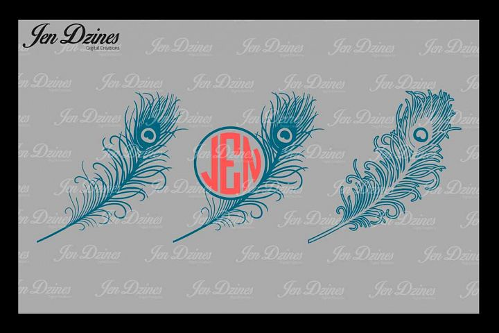 Peacock Feather SVG DXF EPS PNG