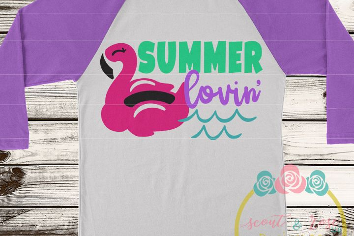 Summer Lovin Flamingo SVG DXF PNG