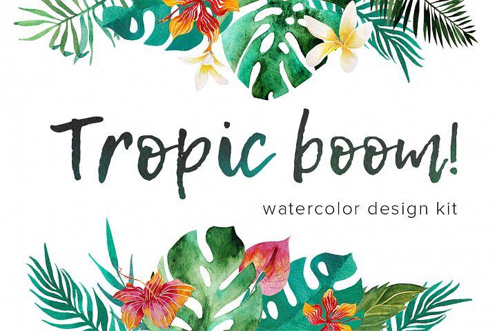 Tropic boom! watercolor designer kit