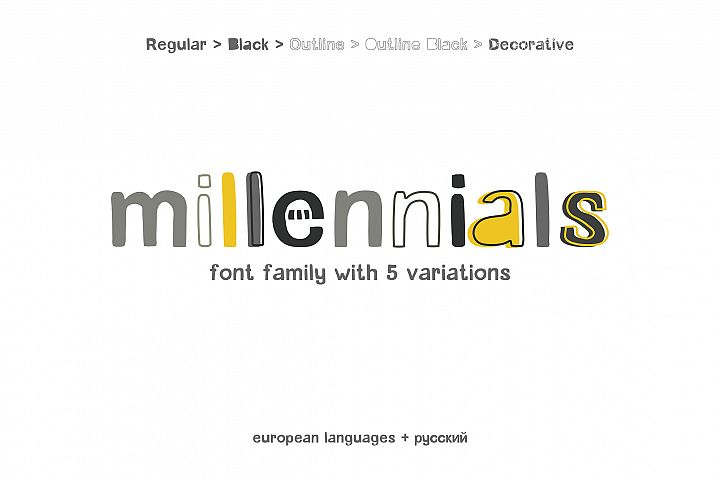 Millennials Font Family