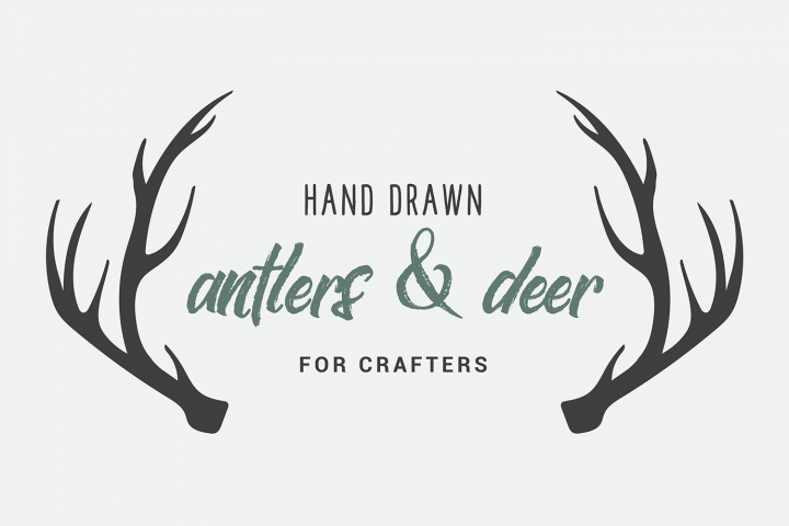 Hand Drawn Deer & Antlers for Crafters