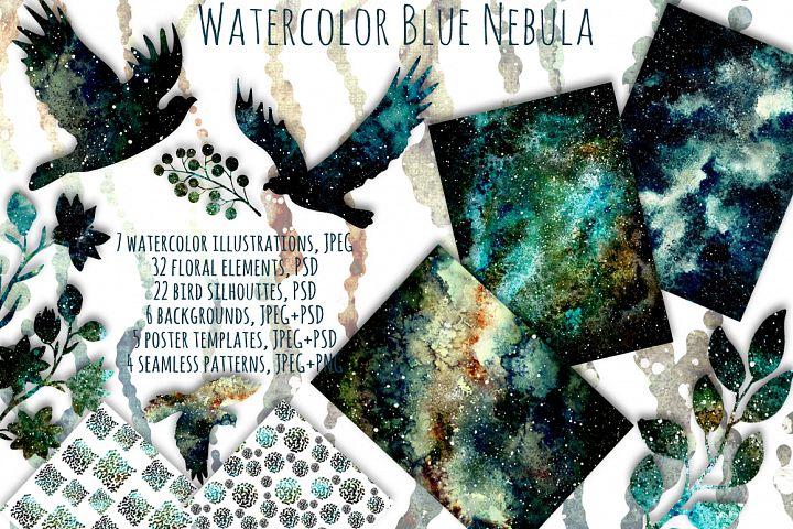 Blue Nebula Set