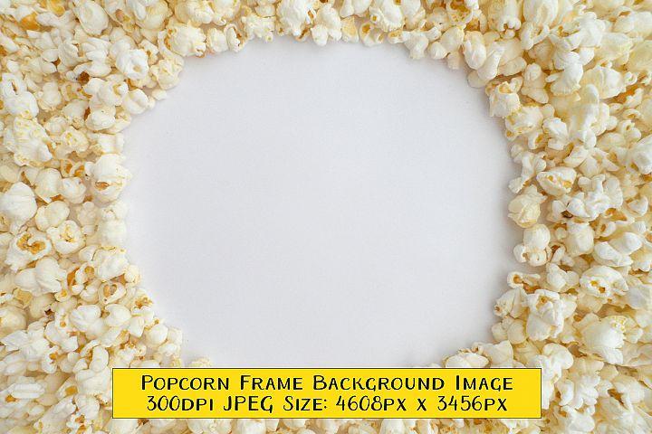 Popcorn Frame Around White Circle