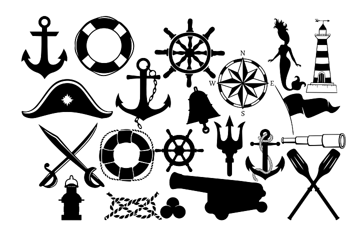 Nautical Silhouette SVG DXF EPS PNG AI