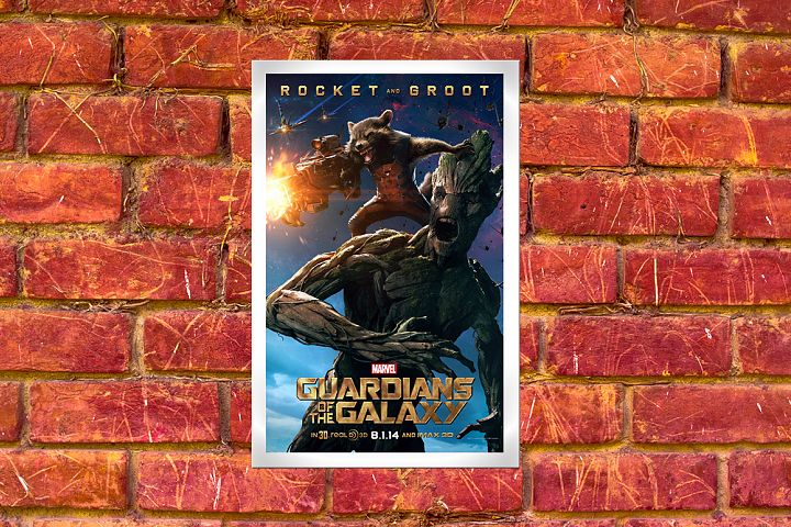Poster Mockup With Wall Background