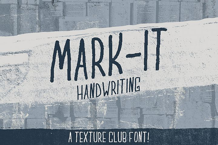 Mark-It handwritten font