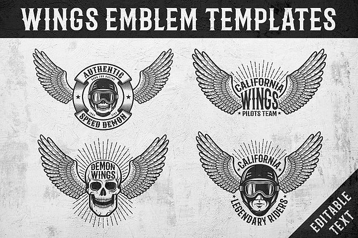 Wings Emblem Templates