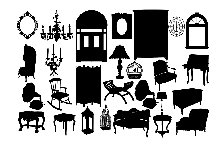 Classical furniture SVG DXF EPS PNG AI