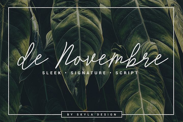 Monoline Signature script - de Novembre
