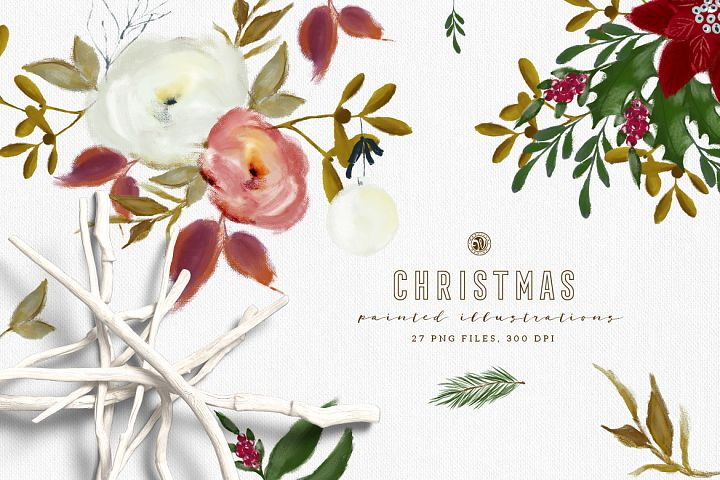 Christmas Paint Illustrations