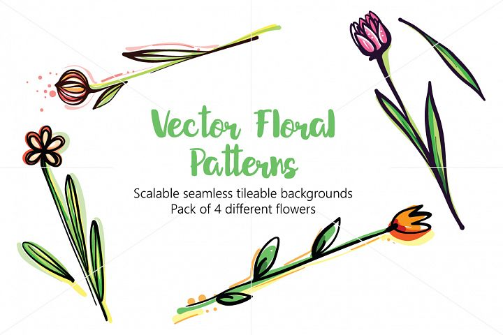 Vector Floral Pattern Pack