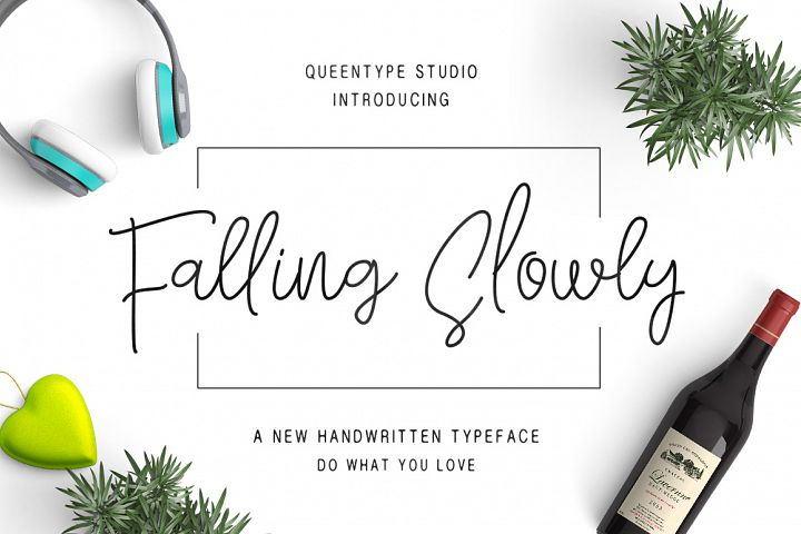 Falling Slowly - Free Font of The Week