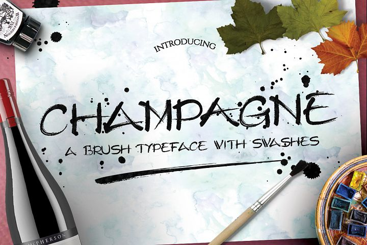 Champagne Typeface - Free Font of The Week