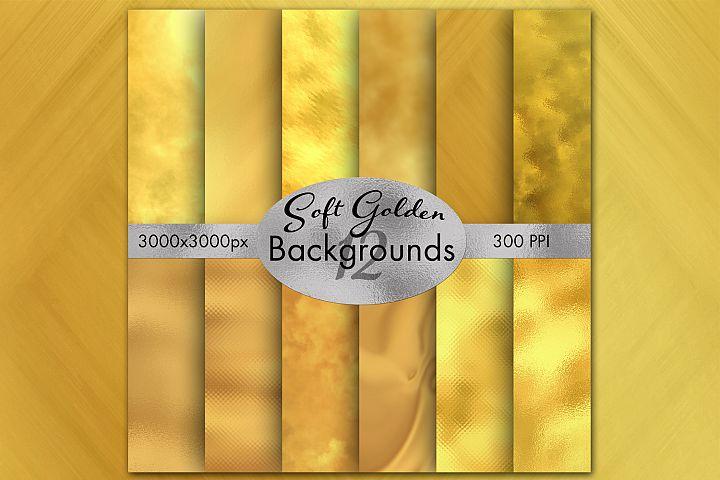 Soft Golden Backgrounds - 12 Image Set