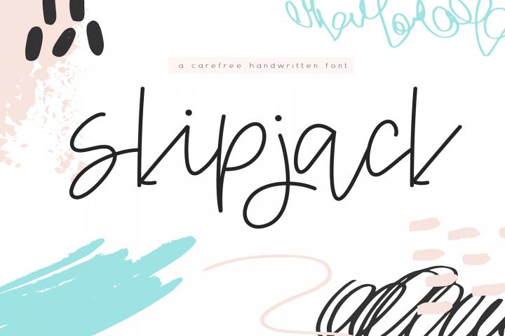 Skipjack - A Carefree Script Font