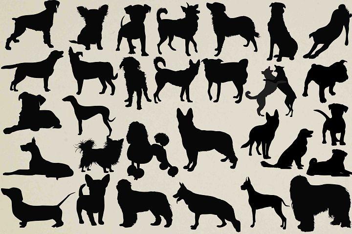 Dogs Silhouette Clip Art