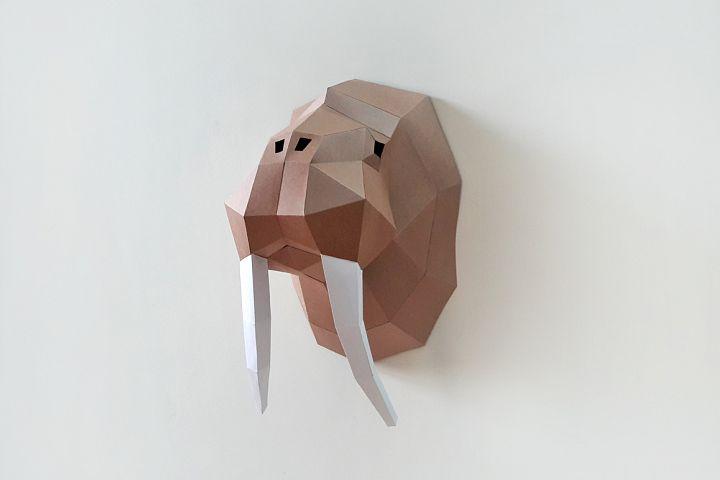DIY Walrus Trophy - 3d papercraft