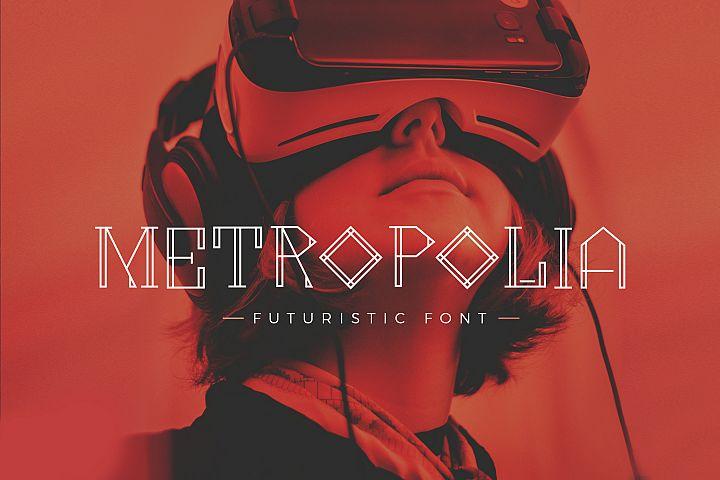 Metropolia - Futuristic font