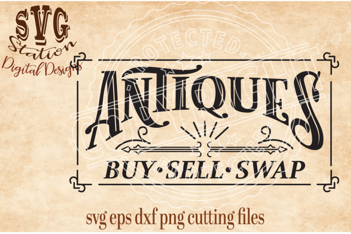 Vintage Antiques Buy Sell Swap SVG DXF PNG EPS Cutting File