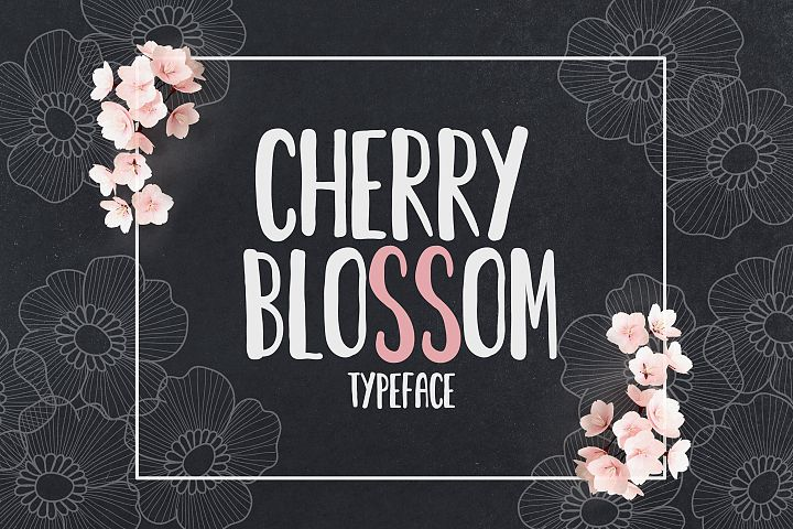 Cherry Blossom Typeface