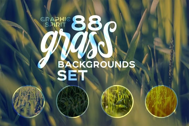 88 HD Grass Backgrounds Set