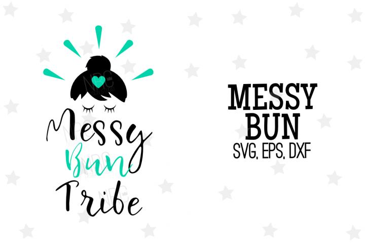 Messy Bun Tribe SVG File