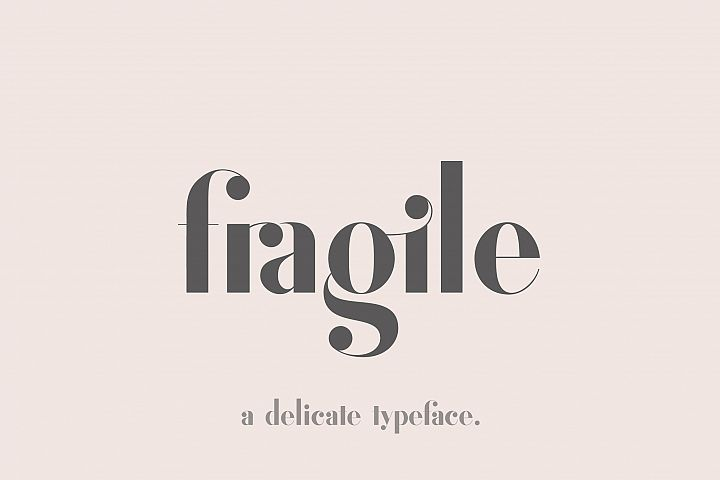 Fragile - A Delicate Typeface
