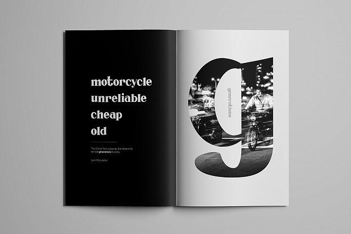 Millenia - Serif Font - Free Font of The Week Design 1
