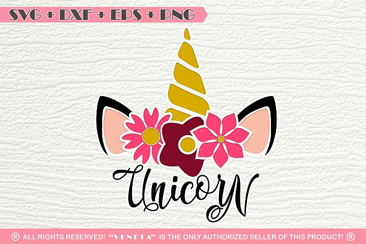 Unicorn | Horn | Flowers | Quotes |SVG DXF EPS |Cutting File