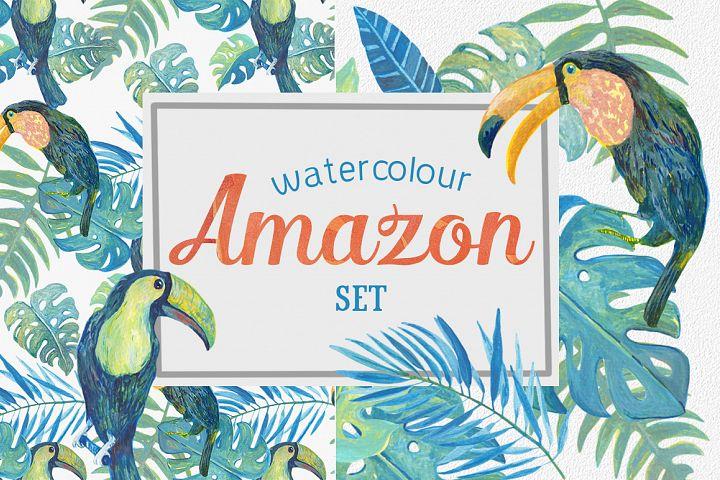 Watercolour Amazon Clipart