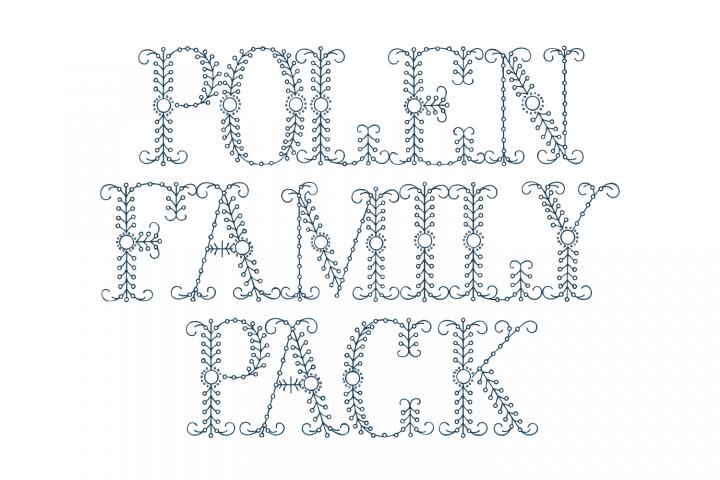 Polen Family Pack (plus a bonus font !)