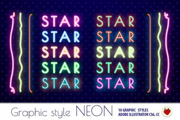NEON Retro Graphic Styles (AI) 1