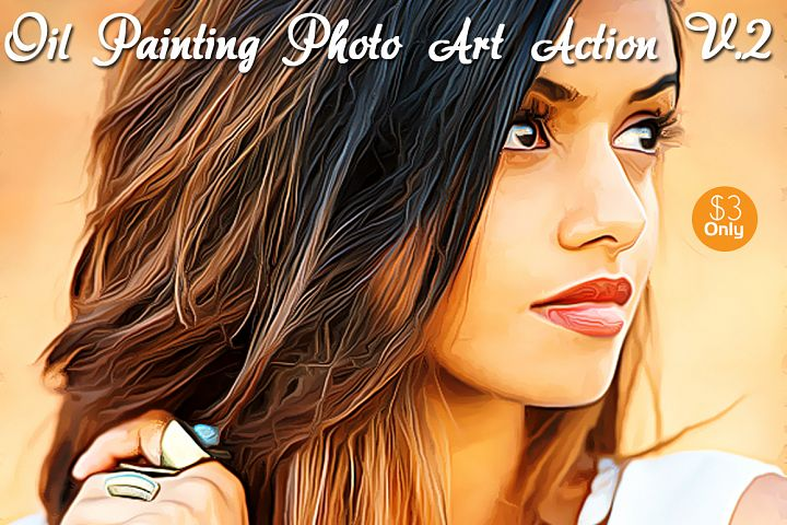 Oil Painting Photo Art Action V.2