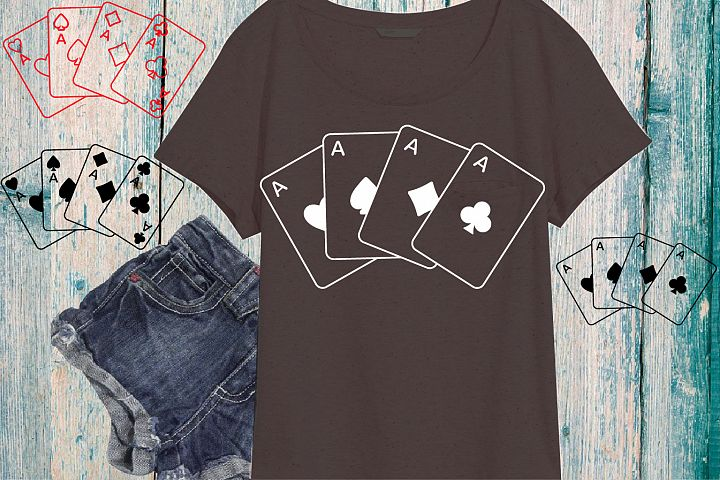 Poker Playing cards svg Four Aces 718S
