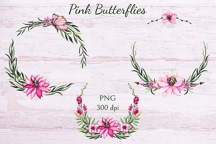 Pink Butterflies example 5
