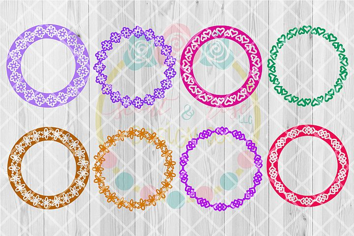 Hand Drawn Monogram Frame SVG Bundle V.1 - 8 Designs SVG DXF PNG