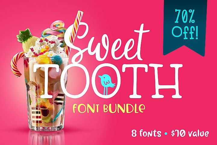 Sweet Tooth Font Bundle