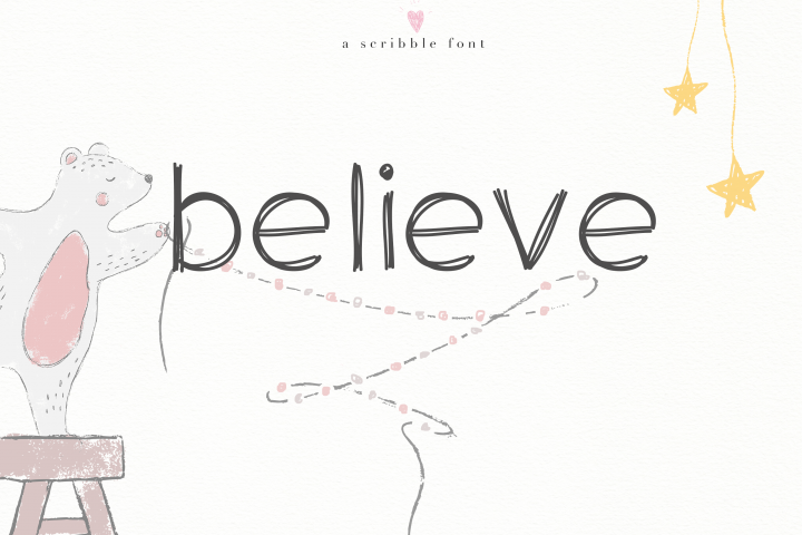 Believe - A Handwritten Scribble Font