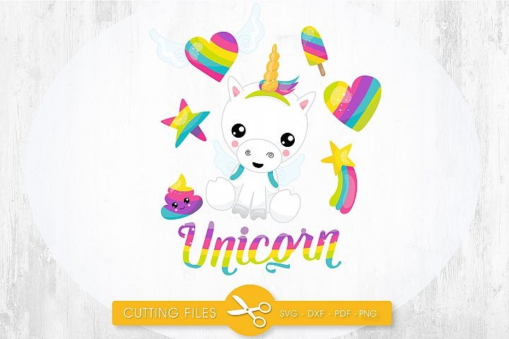 Magical Unicorn cutting files svg, dxf, pdf, eps included - cut files for cricut and silhouette - Cutting Files SG